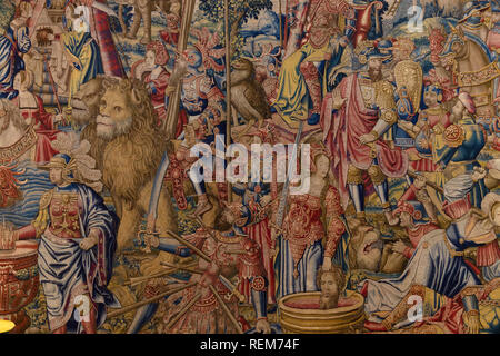 The Triumph of Fortitude, School of Brussels, circa 1525, - Stock Photo