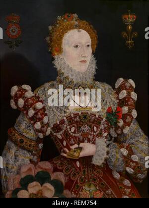 Portrait of Queen Elizabeth I, Nicholas Hilliard, circa 1574, - Stock Photo