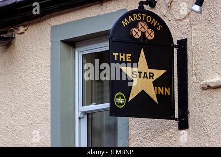 The Star Inn, Tideswell, Derbyshire - Stock Photo