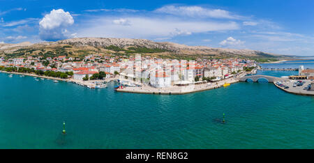 Town of Pag, island Pag, Croatia - Stock Photo