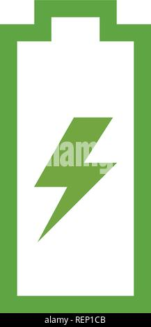 Battery icon graphic design template vector isolated - Stock Photo