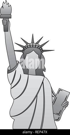 statue of liberty new york city landmark - Stock Photo