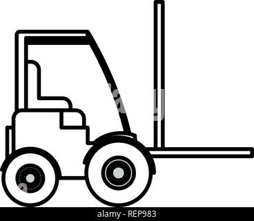 Lift truck icon Over white background, vector illustration - Stock Photo