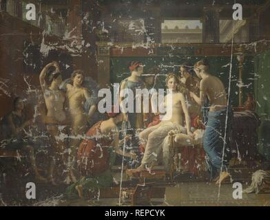 The Toilet of Psyche. Dating: 1823. Place: Brussels. Measurements: h 277 cm × w 362 cm × t 4 cm. Museum: Rijksmuseum, Amsterdam. Author: Joseph Paelinck. - Stock Photo