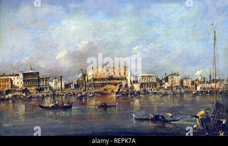 The Doge's Palace Seen from the Bacino di San Marco  c. 1780–90 Francesco GUARDI, 1712 – 1793, Venice, Venetian, Italy, Italian, - Stock Photo