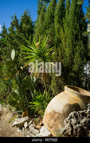 Olive oil urn in countryside Andalucia, Spain - Stock Photo