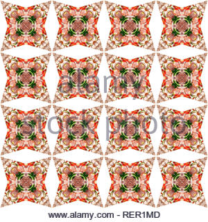 Ornaments generated by computer as a symmetrical background. Multicolor texture. - Stock Photo