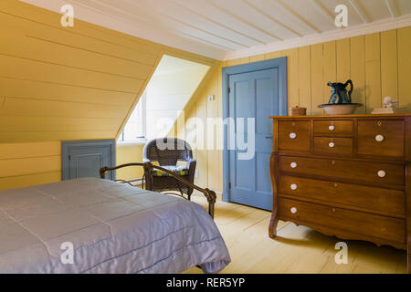 19th Century Bedroom With Period Furniture And Ceramic