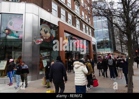 Disney store, Oxford Street, London - Stock Photo
