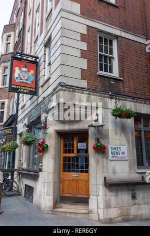 Devonshire Arms,  Dukes Mews, London - Stock Photo