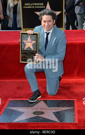 Los Angeles, USA. 22nd Jan, 2019. LOS ANGELES, CA. January 22, 2019: Gustavo Dudamel at ceremony where conductor Gustavo Dudamel received a star on the Hollywood Walk of Fame. Picture Credit: Paul Smith/Alamy Live News - Stock Photo
