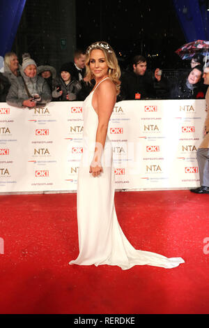 London, UK. 22nd Jan, 2019. Lydia Bright, National Television Awards, The O2, London, UK, 22 January 2019, Photo by Richard Goldschmidt Credit: Rich Gold/Alamy Live News - Stock Photo
