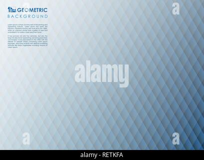 Abstract square stripe line blue geometric background, vector eps10 - Stock Photo