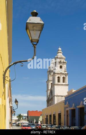 Historic town Campeche, Cathedral of Nuestra Senora de la Concepcion, Province of Campeche, Yucatan peninsula, Mexico - Stock Photo