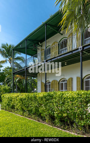 Ernest Hemingway's house and museum in Key West, Florida, USA - Stock Photo