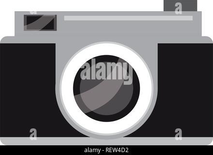 black and gray camera icon - Stock Photo