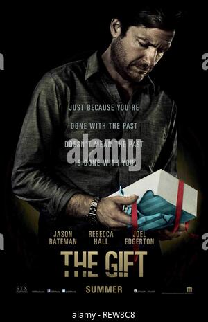 JASON BATEMAN POSTER  Film 'THE GIFT' (2015)  Directed By JOEL EDGERTON  07 August 2015  SAM51894  Allstar Picture Library/UNIVERSAL PICTURES  **WARNING** This Photograph is for editorial use only and is the copyright of UNIVERSAL PICTURES  and/or the Photographer assigned by the Film or Production Company & can only be reproduced by publications in conjunction with the promotion of the above Film. A Mandatory Credit To UNIVERSAL PICTURES is required. The Photographer should also be credited when known. No commercial use can be granted without written authority from the Film Company. - Stock Photo