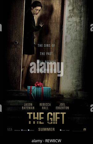 REBECCA HALL POSTER  Film 'THE GIFT' (2015)  Directed By JOEL EDGERTON  07 August 2015  SAM51895  Allstar Picture Library/UNIVERSAL PICTURES  **WARNING** This Photograph is for editorial use only and is the copyright of UNIVERSAL PICTURES  and/or the Photographer assigned by the Film or Production Company & can only be reproduced by publications in conjunction with the promotion of the above Film. A Mandatory Credit To UNIVERSAL PICTURES is required. The Photographer should also be credited when known. No commercial use can be granted without written authority from the Film Company. - Stock Photo