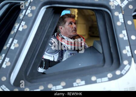 DAVID HASSELHOFF  Character(s): Gilbert Grayson Shepard  Film 'SHARKNADO 3: OH HELL NO!' (2015)  Directed By ANTHONY C. FERRANTE  22 July 2015  SAX93057  Allstar Picture Library/SYFY  **WARNING** This Photograph is for editorial use only and is the copyright of SYFY  and/or the Photographer assigned by the Film or Production Company & can only be reproduced by publications in conjunction with the promotion of the above Film. A Mandatory Credit To SYFY is required. The Photographer should also be credited when known. No commercial use can be granted without written authority from the Film Compa - Stock Photo