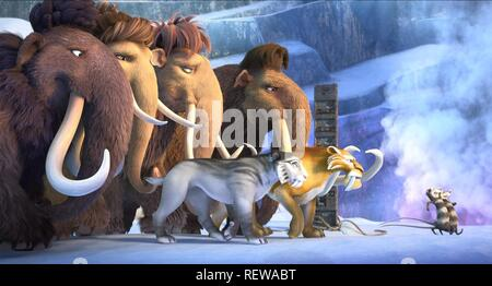 Julian, Ellie, Peaches, Manny, Shira, Diego, Crash & Eddie Film: Ice Age: Collision Course; Ice Age 5 (USA 2016)   Director: Mike Thurmeier & Galen T. Chu 19 June 2016  SAQ65858 Allstar Picture Library/20TH CENTURY FOX  **Warning**  This Photograph is for editorial use only and is the copyright of 20TH CENTURY FOX  and/or the Photographer assigned by the Film or Production Company & can only be reproduced by publications in conjunction with the promotion of the above Film. A Mandatory Credit To 20TH CENTURY FOX is required. The Photographer should also be credited when known. No commercial use - Stock Photo