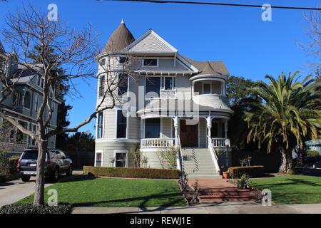 Queen Anne House, built 1891, Alameda, California - Stock Photo