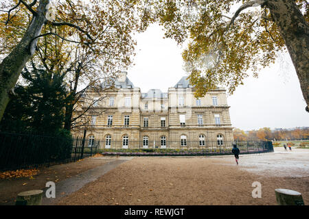 Paris (France) - Luxembourg Palace in Luxembourg Garden (Jardin de Luxembourg) - Stock Photo