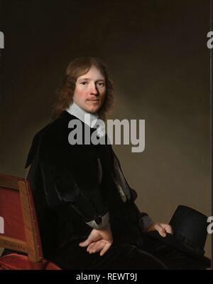 Portrait of Eduard Wallis. Eduard Wallis (1621-1684). Dating: 1652. Measurements: h 97 cm × w 75 cm. Museum: Rijksmuseum, Amsterdam. Author: Johannes Cornelisz. Verspronck (mentioned on object). - Stock Photo