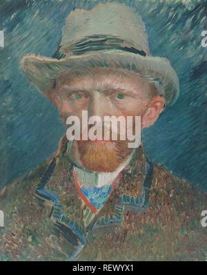 Self-portrait. Self Portrait. Dating: 1887. Measurements: h 42 cm × w 34 cm; d 8 cm. Museum: Rijksmuseum, Amsterdam. Author: VINCENT VAN GOGH. VAN GOGH, VINCENT. - Stock Photo