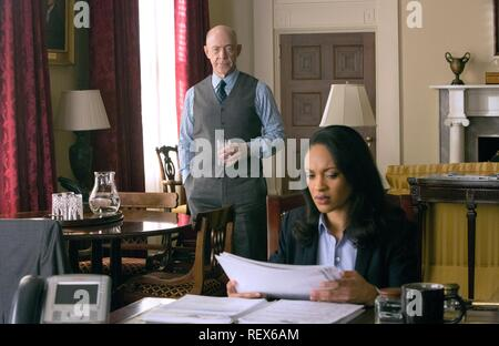 J.K. Simmons & Cynthia Addai-Robinson Film: The Accountant (USA 2016)  Character(s): Ray King, Marybeth Medina  Director: Gavin O'Connor 10 October 2016  SAR68780 Allstar Picture Library/WARNER BROS.  **Warning**  This Photograph is for editorial use only and is the copyright of WARNER BROS.  and/or the Photographer assigned by the Film or Production Company & can only be reproduced by publications in conjunction with the promotion of the above Film. A Mandatory Credit To WARNER BROS. is required. The Photographer should also be credited when known. No commercial use can be granted without wri - Stock Photo