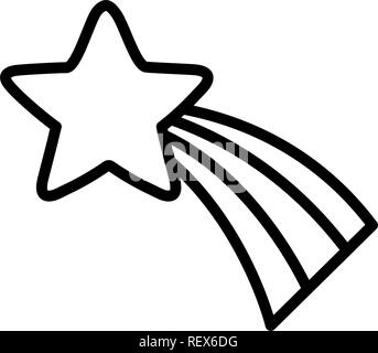 shooting star icon over white background, vector illustration - Stock Photo