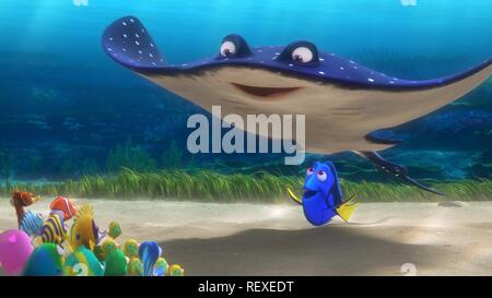 Mr. Ray & Dory Film: Finding Dory (USA 2016)   Director: Andrew Stanton, Angus Maclane 08 June 2016  SAQ66330 Allstar Picture Library/PIXAR/DISNEY  **Warning**  This Photograph is for editorial use only and is the copyright of PIXAR/DISNEY  and/or the Photographer assigned by the Film or Production Company & can only be reproduced by publications in conjunction with the promotion of the above Film. A Mandatory Credit To PIXAR/DISNEY is required. The Photographer should also be credited when known. No commercial use can be granted without written authority from the Film Company. - Stock Photo