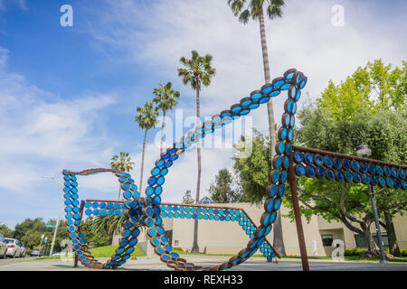 April 25, 2017 Santa Clara, CA/USA - Triton Museum public art display - Stock Photo