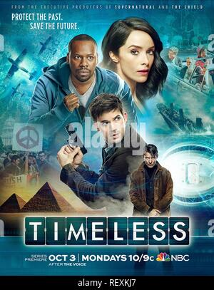 MALCOLM BARRETT, ABIGAIL SPENCER, MATT LANTER & GORAN VISNJIC POSTER  Character(s): Rufus Carlin, Lucy Preston, Wyatt Logan, Garcia Flynn  Television 'TIMELESS' (2016)  Directed By NEIL MARSHALL  03 October 2016  SAR68089  Allstar Picture Library/SONY PICTURES TELEVISION  **WARNING** This Photograph is for editorial use only and is the copyright of SONY PICTURES TELEVISION  and/or the Photographer assigned by the TV or Production Company & can only be reproduced by publications in conjunction with the promotion of the above TV Programme. A Mandatory Credit To SONY PICTURES TELEVISION is requir - Stock Photo