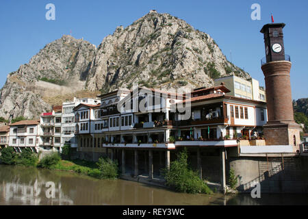 Traditional Ottoman houses in Amasya - Stock Photo