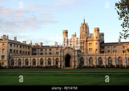 St John's College in Cambridge, England - Stock Photo