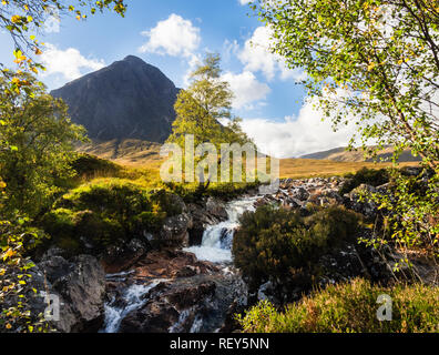 Glen Etive, Buachaille Etive Mor in the Glen Coe area, Scotland - Stock Photo