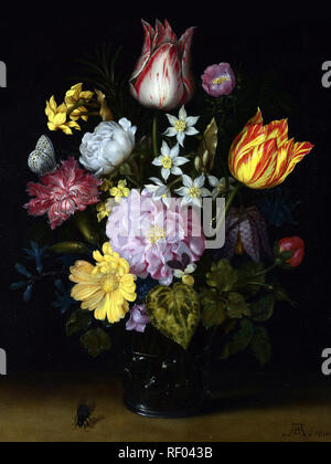Full title: Flowers in a Glass Vase Artist: Ambrosius Bosschaert the Elder Date made: 1614 Source: http://www.nationalgalleryimages.co.uk/ Contact: picture.library@nationalgallery.co.uk  Copyright (C) The National Gallery, London - Stock Photo