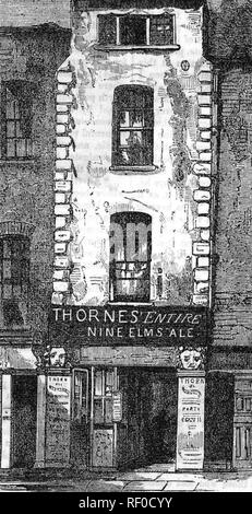 JOHN DRYDEN (1631-1700) English poet and playwright. His house in Fetter Lane,London, about 1680. - Stock Photo