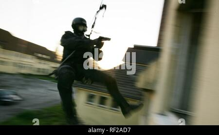 Operational exercise of a new SWAT team police command, North Rhine-Westphalia - Stock Photo