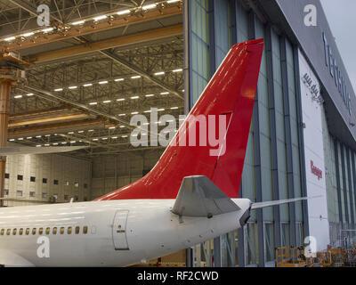 Plane hangar - Stock Photo
