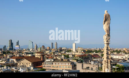 An image of a view over Milan Italy - Stock Photo