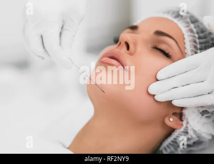 Anti-aging treatment and face lift  Face lifting, beautiful