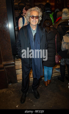 London, UK. 23rd January, 2019. Luc Plamondon attends the opening night of 'Notre Dame de Paris' at London Coliseum on January 23, 2019 in London, England. Credit: Gary Mitchell, GMP Media/Alamy Live News - Stock Photo