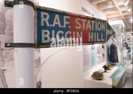 Biggin Hill, Kent, UK. 24 January, 2019. Following a 16-month construction project, the brand new Biggin Hill Memorial Museum will open its doors to visitors for the first time on 2 February 2019, offering the chance to experience the inspirational history of Britain's most famous airfield. Major funding for the project came from the National Lottery and Central Government. RAF Biggin Hill played a pivotal role in the Second World War. Credit: Malcolm Park editorial/Alamy Live News - Stock Photo