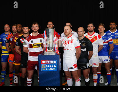 Old Trafford Stadium, Manchester, UK. 24th January 2019.   Betfred Super League 2019 Official Season Launch    Credit: Touchlinepics/Alamy Live News - Stock Photo