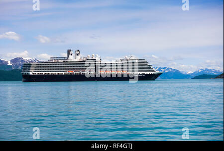 The Holland America Line cruise ship Eurodam in Glacier Bay National Park, Alaska, United States. - Stock Photo