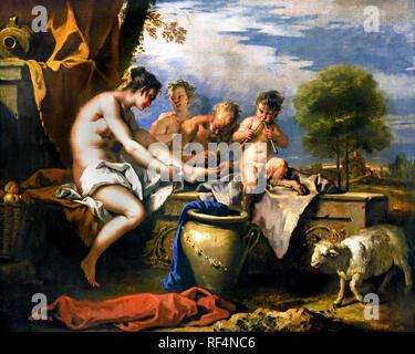 Nymphs and satyrs 1712 - 1716 Sebastiano Ricci Anthony -Sebastiano Ricci Antoine 1659-1734 Italy Italian - Stock Photo