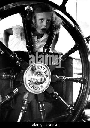 elettra marconi on the ship elettra, 1936 Stock Photo