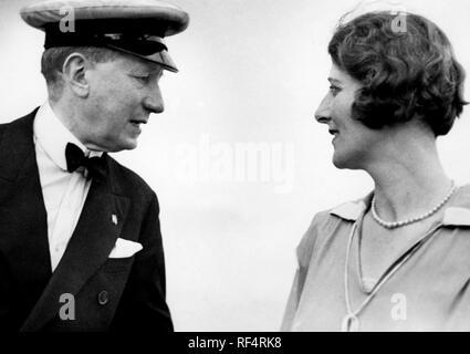 guglielmo marconi and maria cristina bezzi-scali, 1936 Stock Photo