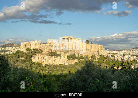 Whether you see Parthenon from up close or from afar, it is always breathtakingly majestic. - Stock Photo